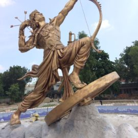 Statue of Karna athenaartarena v.p.verma kurukshetra