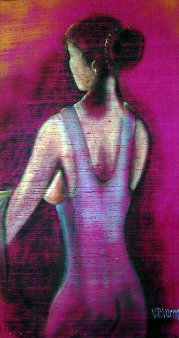 women's back, Kurukshetra art, V.P.Verma painting