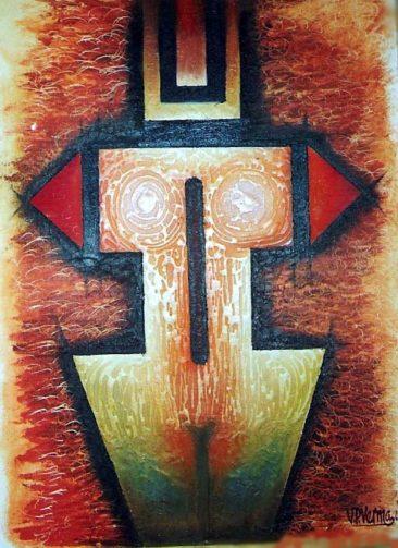 mother figure, Kurukshetra art, V.P.Verma painting