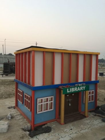 model of library athenaartarena v.p.verma, children's traffic park Panipat