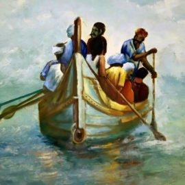men in a boat, v