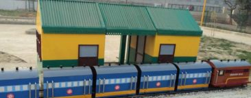 Railway station model