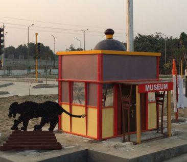 model of a museum athenaartarena v.p.verma, children's traffic park Panipat