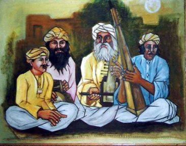 musicians, Kurukshetra art, V.P.Verma painting