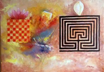 abstract, Kurukshetra art, V.P.Verma painting