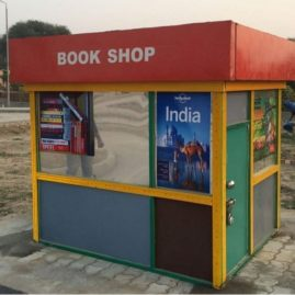 book shop made of wood, children's traffic park Panipat