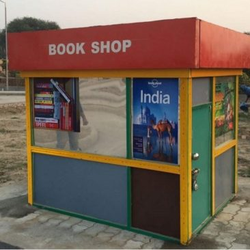 book shop made of wood, children's traffic park Panipat
