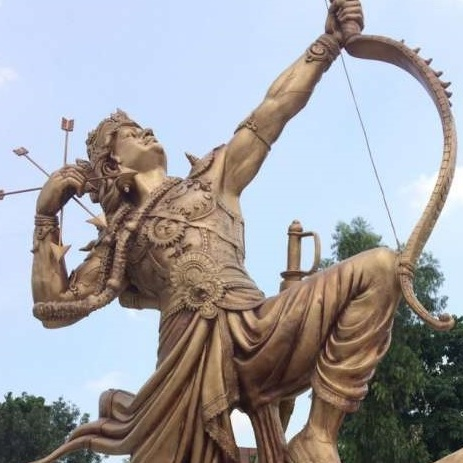Lord Karna, Kurukshetra, V.P.Verma, Kurukshetra art, V.P.Verma painting