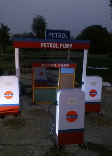 model of a petrol pump athenaartarena, children's traffic park Panipat