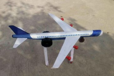 model of an airplane, children's traffic park Panipat
