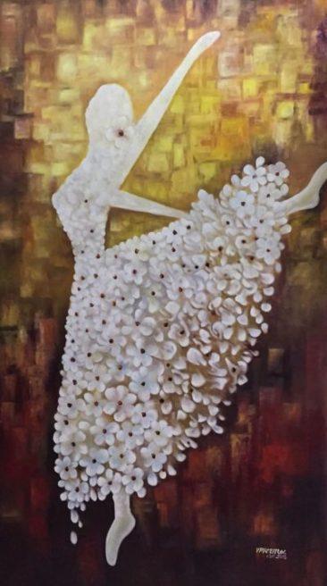 Skirt made of flower, flower skirt, dancing with flower skirt, v.p.verma, athenaartarena