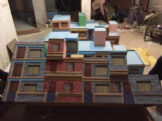Model of windows and doors